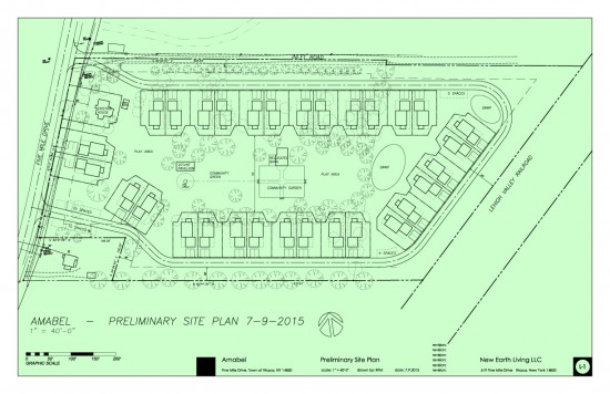 Preliminary site plan for the Amabel community